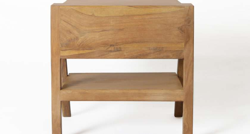 Nest Bedside Table Teak Dwell Duo