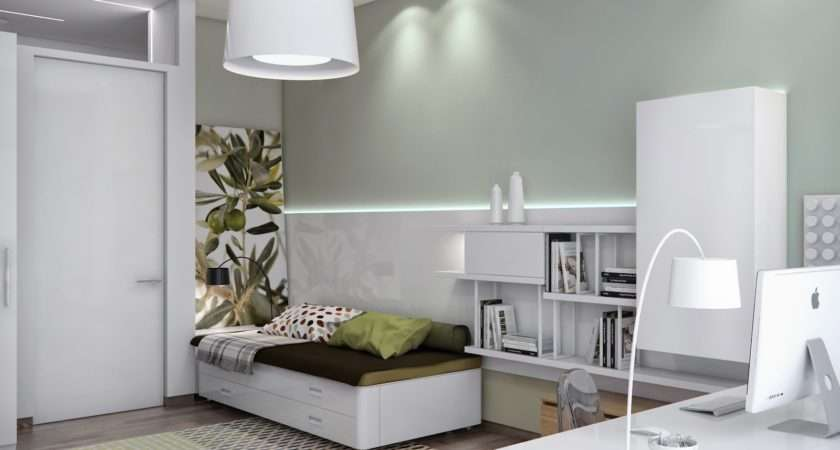 Neutral Baby Room Design Broken White Painted Wall