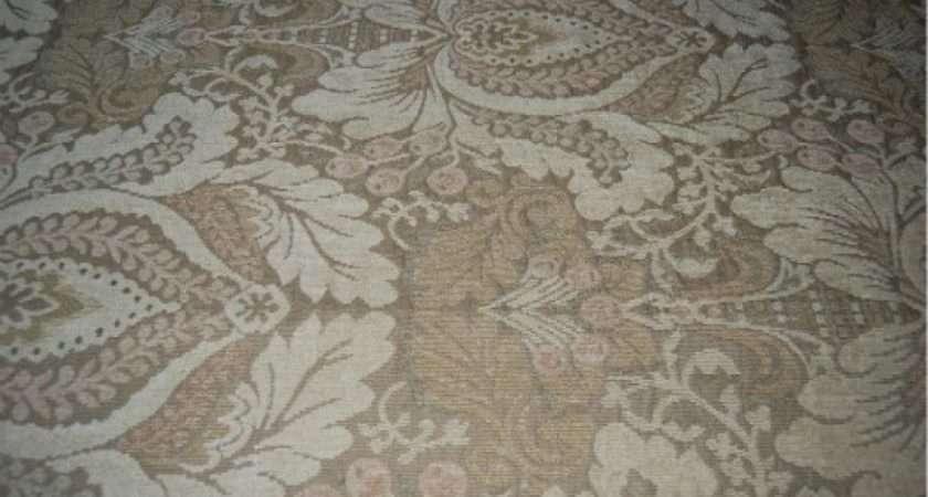 Neutral Chenille Fabric Ralph Lauren Motif Line Cotton