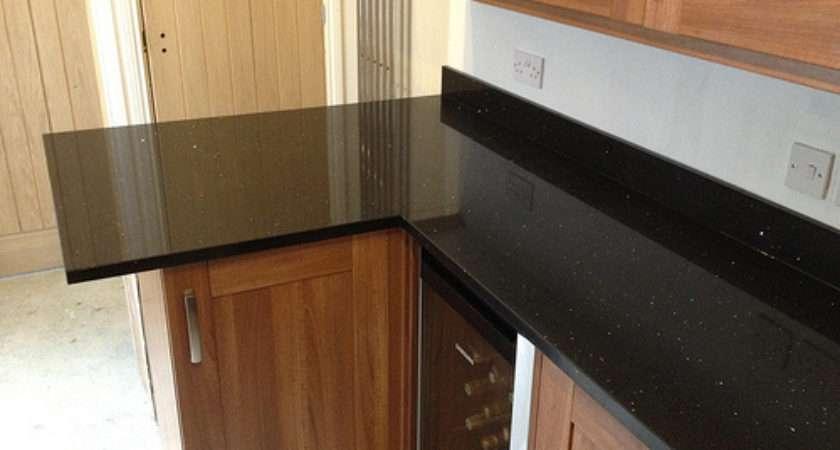 New Black Mirror Quartz Worktops Fitted Granite