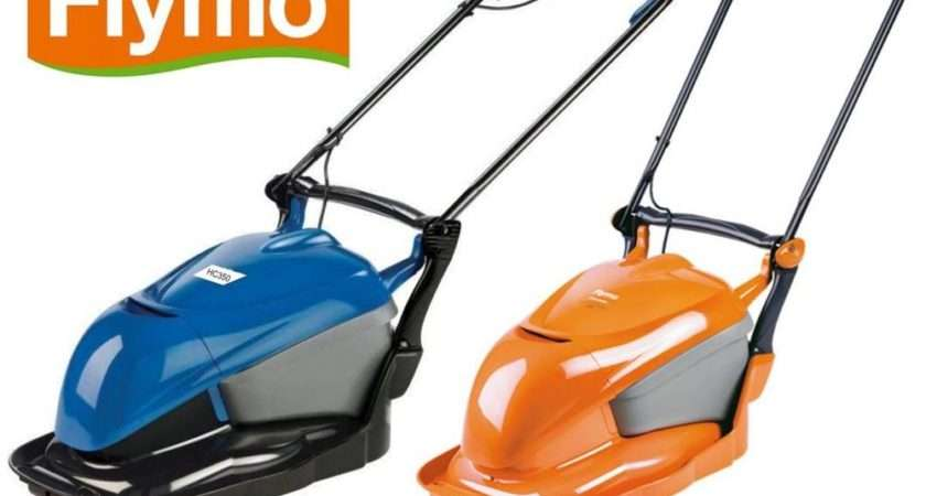 New Flymo Blue Hover Compact Lawnmower