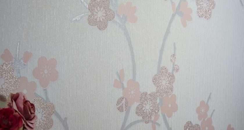 New Graham Brown Cherry Blossom Floral Pattern Glitter