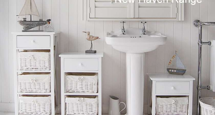 New Haven Standing Bathroom Cabinet Small White