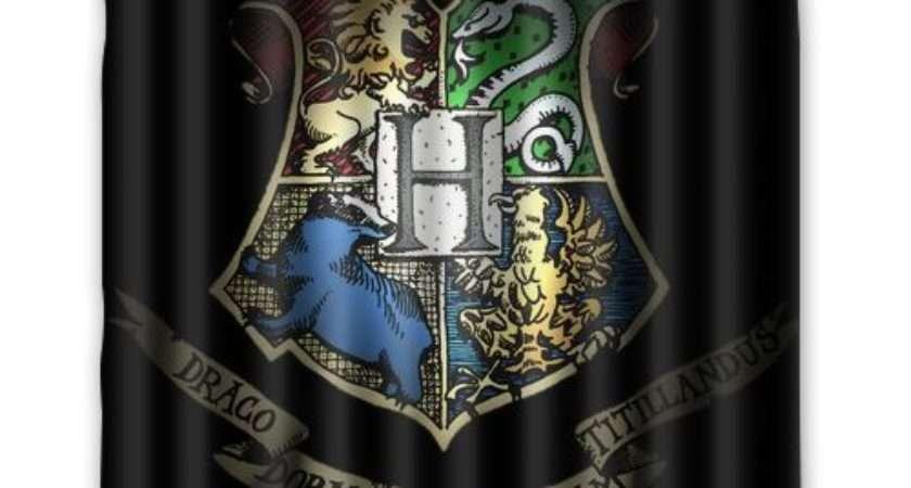 New Hogwarts School Harry Potter Polyester Fabric Shower