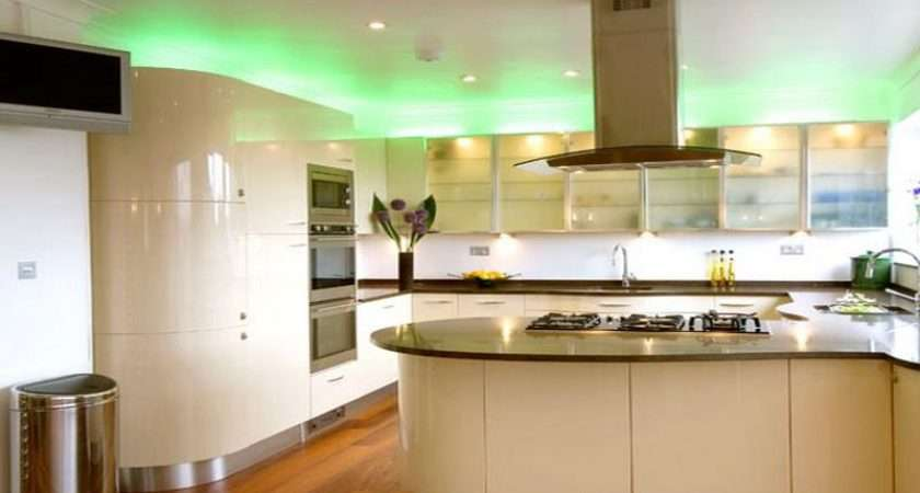 New Kitchen Lighting Trends Curved Island Unit
