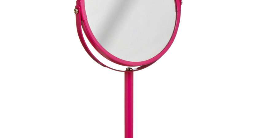 New Premier Pink Round Swivel Bathroom Table Double Sided