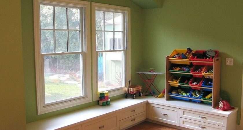 New Room Window Seat Niche Children Toy Storage