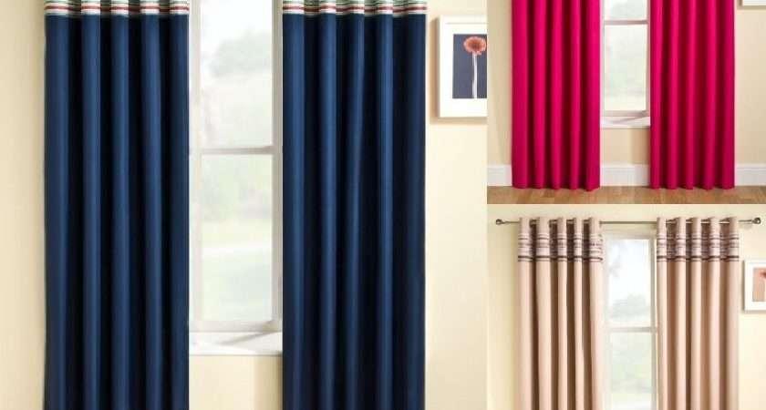 New Siesta Eyelet Top Thermal Backed Curtains Next Semi Blackout Plain