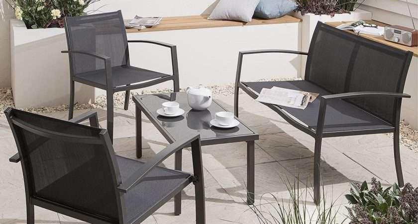 New Tesco Piece Garden Furniture Lounge Set Charcoal