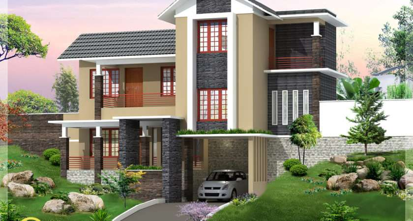 New Trendy Bhk Kerala Home Design