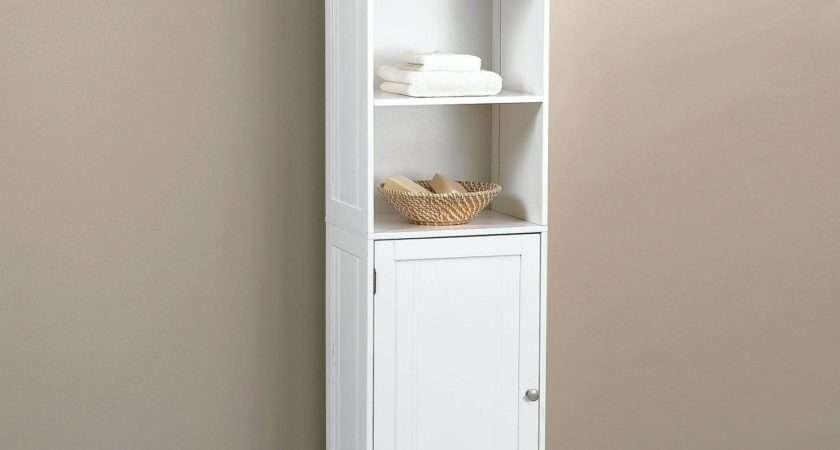 New White Gloss Tall Bathroom Cabinet Indusperformance