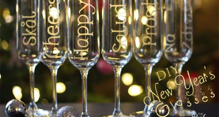 New Year Champagne Glasses Personalized Glass Etching Toast