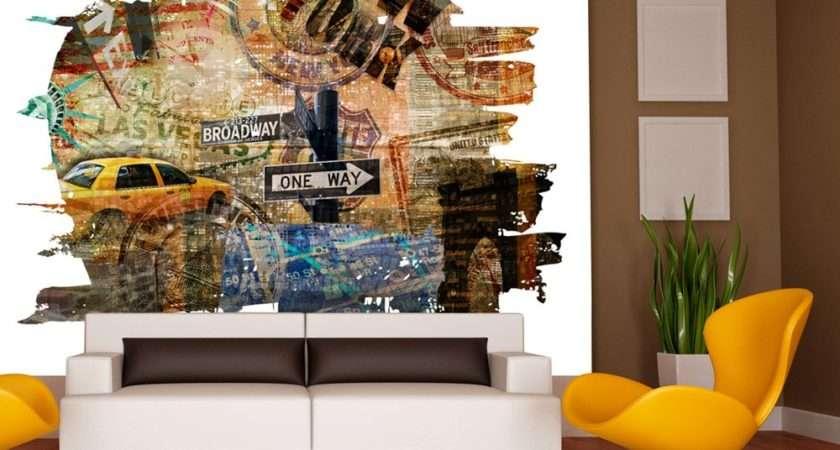 New York Collage Murals
