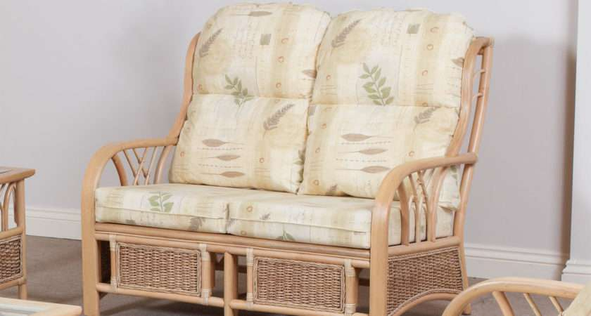 New York Conservatory Cane Furniture Two Seater Sofa