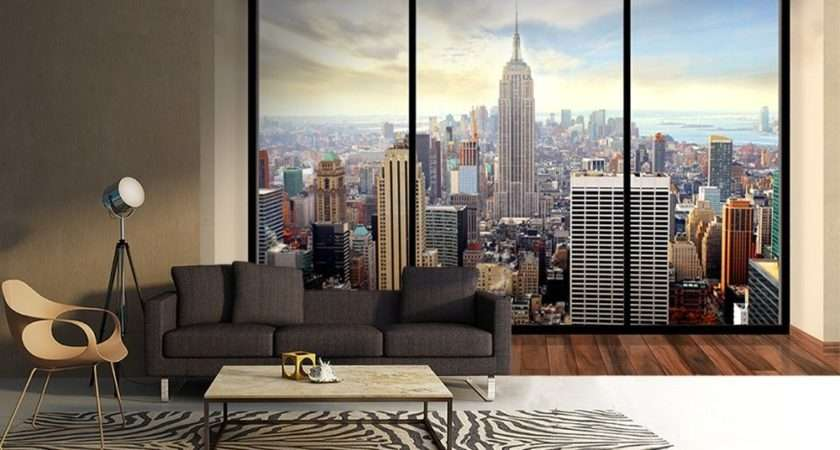 New York Skyline Penthouse Wall Mural Buy Allwallpapers
