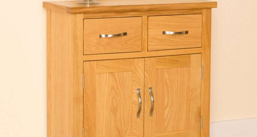 Newlyn Oak Mini Sideboard Small Cupboard Light