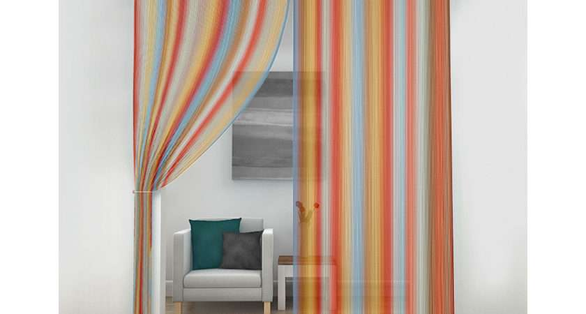 Next Generation Voile String Curtain Panel Pencil