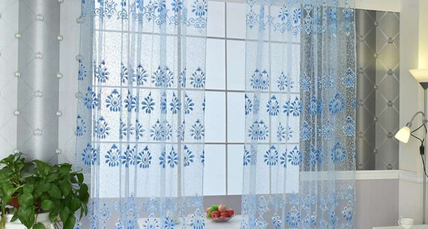Nice Printed Window Sheer Voile Door Wall Curtain Drape