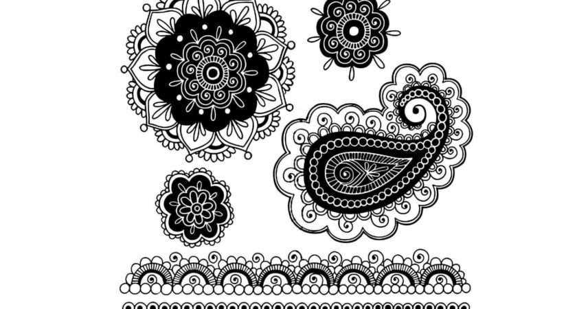 Nice Simple Paisley Pattern Tattoo Design Idea