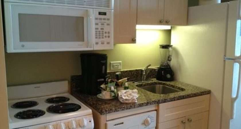 Nice Small Kitchen Large Fridge Seaside