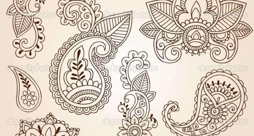 Nice Stencil Paisley Pattern Tattoo Design Golfian