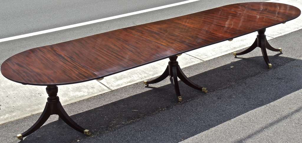 Nineteenth Century Mahogany Georgian Dining Table Stdibs