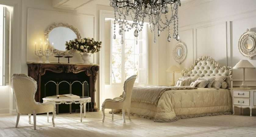 Nuanced Spacious Bedroom Which Decorated French Vintage Decor