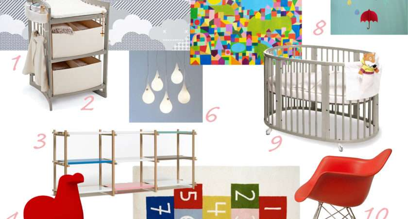 Nursery Clouds Interior Design Ideas