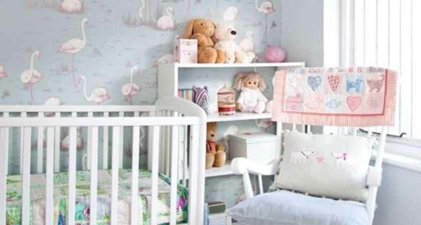 Nursery Soft Pastel Flamingo Bedroom