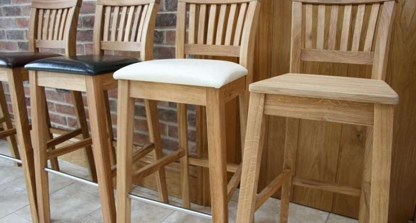 Oak Bar Stools Kitchen Tall Breakfast