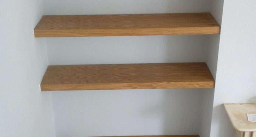 Oak Cherry Shelves Richard Sothcott Brighton Carpentry