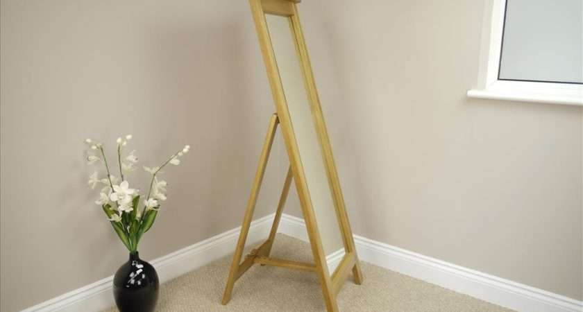 Oak Cheval Large Mirror Tall Freestanding Bedroom Dressi Room