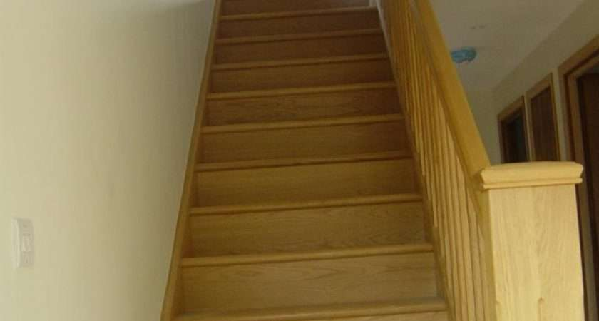 Oak Straight Stairs Square Stop Chamfer
