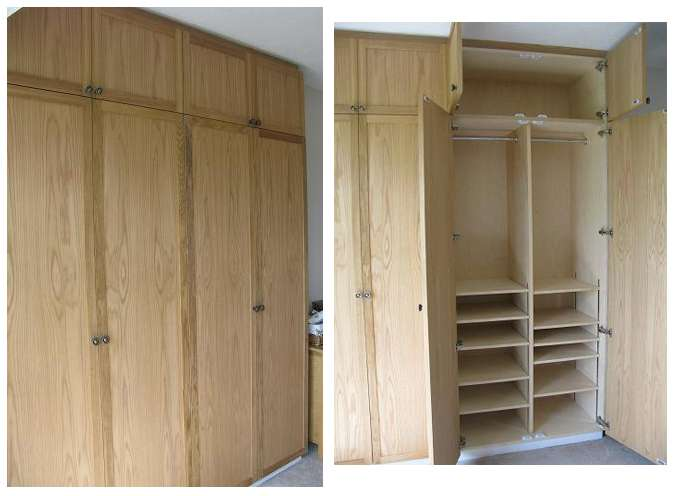 Oak Wardrobe Assembly Door