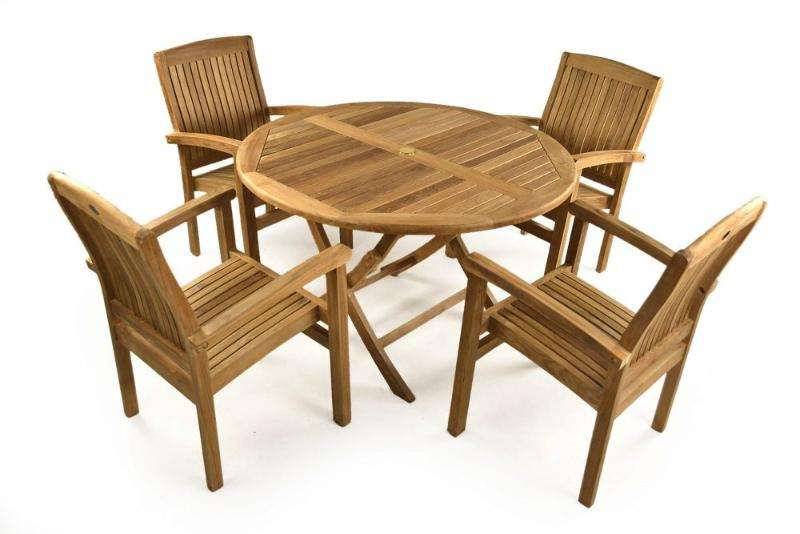 oakham teak seater garden dining set - Garden Furniture 4 Seater