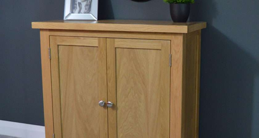 Oakley Oak Cupboard Small Storage Cabinet Sideboard