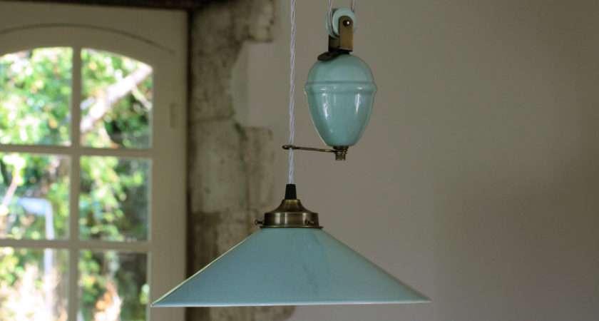Objects Design Zinc Rise Fall Lamp