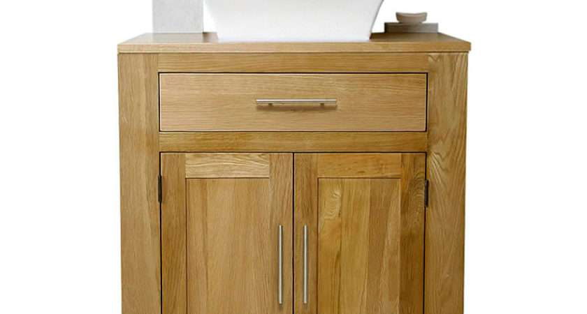 Off Solid Oak Vanity Unit Basin Sink