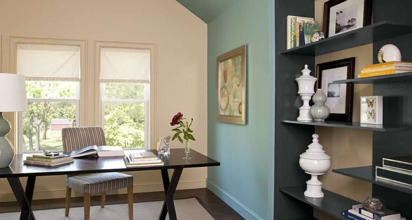 Office Blue Color Schemes Paint Home Combo