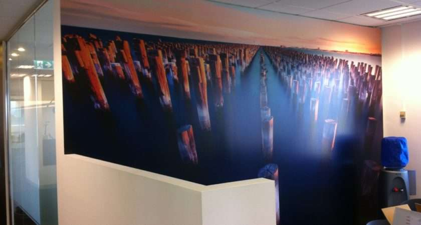 Office Feature Wall Grafico Custom Coverings