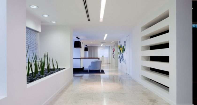 Office Interior Corporate Wall Feature Design