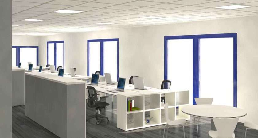 Offices Interiors Design Ideas Accent Colors Modern