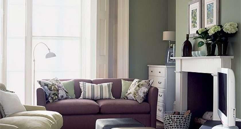 Olive Green Grey Living Room