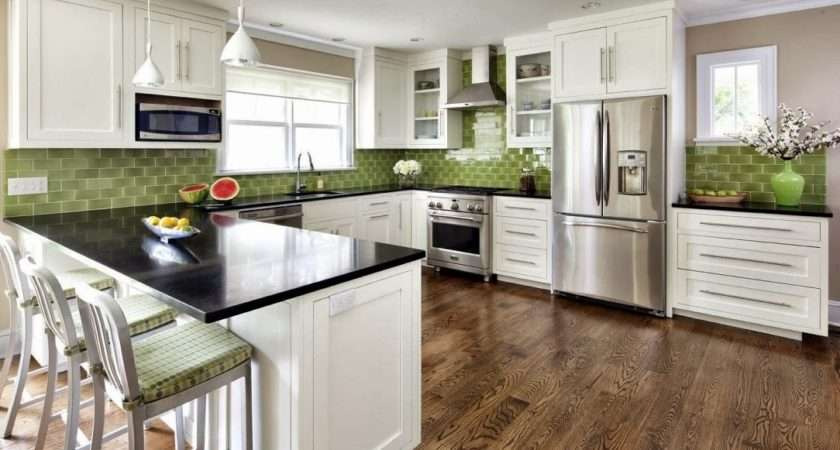 Olive Green Kitchen White Cabinets Cabinet