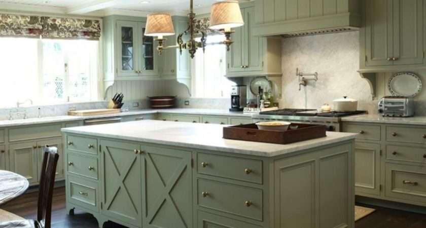Olive Green Kitchen White Cabinets Saomc