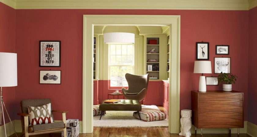 Olive Green Living Room Walls