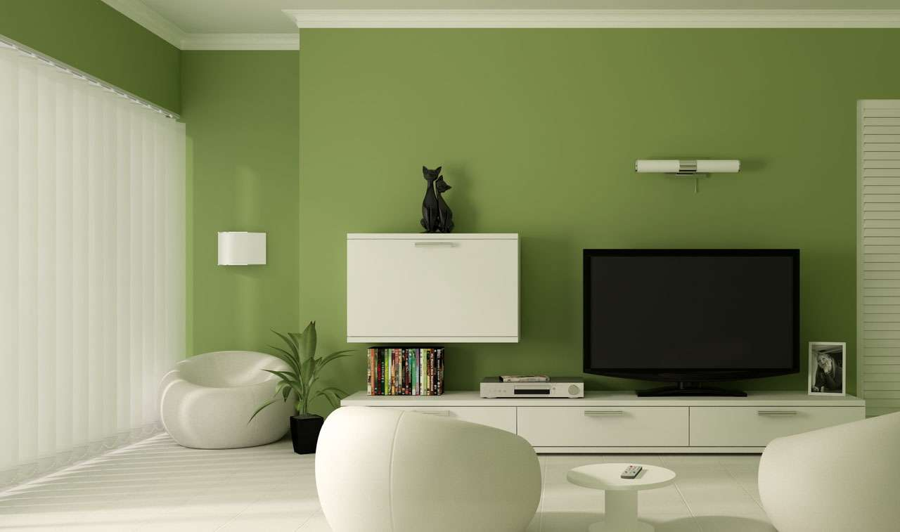 Olive Green Wall Accent Walls