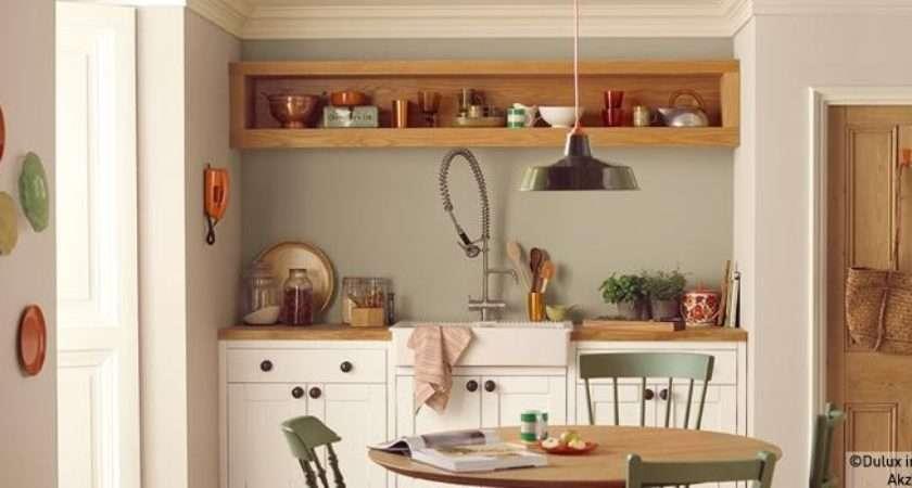 Olive Kitchen Natural Hessian Jasmine White Cupboard Paint