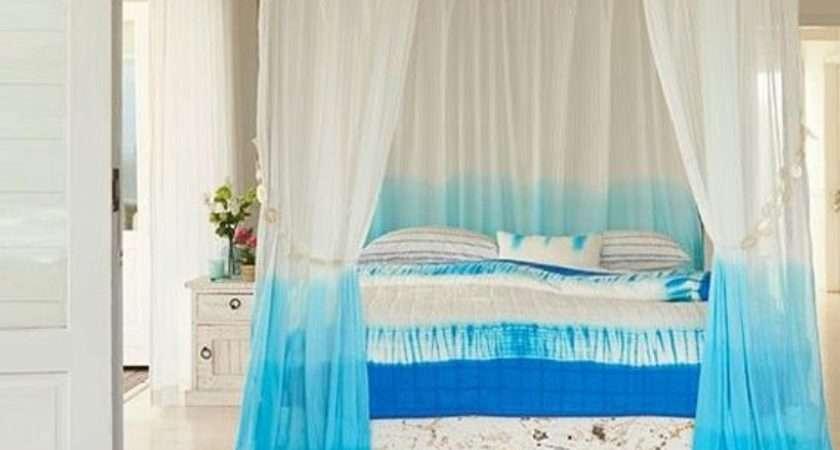 Ombre Cyan Tie Dye Curtain Ohanahomedecor Etsy