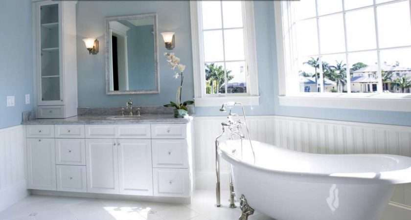 One Best Paint Colors Bathrooms Using Blue Wall